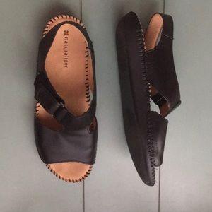 Naturalizer Black Scout Sandal Sz 7.5 W